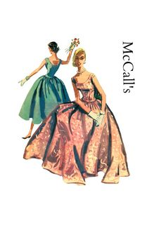 Vintage 1950s McCalls 3361 Misses Formal by PinkPolkaDotButton, $68.00