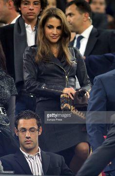 Queen Rania of Jordania attends a Liga match between Barcelona and Villarreal CF at Camp Nou Stadium on November 13, 2010 in Barcelona, Spain.