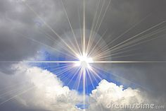 Blue Sky With Shining Sun And Clouds Stock Photo - Image of clean, high: 8643942 Air Image, Sun And Clouds, Cloud Art, Christian, Sky, Stock Photos, World, Awesome, Blue