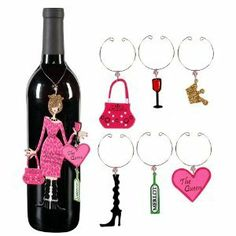 Sunset Vista Designs Divas And Dames Refrigerator Magnet And Wine Charm Set, The Queen Bottle Charms, Wine Glass Charms, Texas Wineries, Wine Supplies, Refrigerator Magnets, Fine Wine, Grape Vines, Wines, Wine Lover