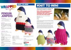 For when I've got my knitting skills down pat Penguin World, Knit Jumpers, I Am Happy, Penguins, First Love, Projects To Try, Crochet Hats, Craft Ideas, Mood