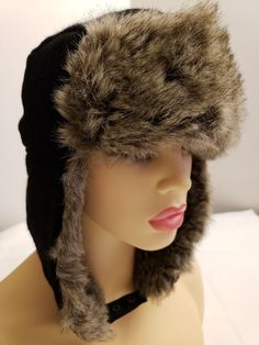 6eab3f3d673 CALVIN KLEIN BLACK TRAPPER HAT FAUX FUR ONE SIZE  fashion  clothing  shoes   accessories  womensaccessories  hats (ebay link)