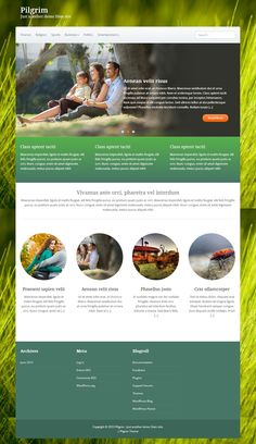 JMJSD idea - Simple, but effective. Wordpress Template, Wordpress Theme, Free Html Website Templates, Photography Website Templates, Smart Web, Web Design Projects, Best Web Design, Web Design Inspiration, Pilgrim