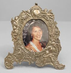 French Victorian accessories easel picture frame silver