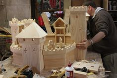 The Elves and the Wood Botherer: In the Workshop Making castle doll house