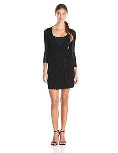 French Connection Womens Scalloped Danni Ls Dress Black 2 * Click image for more details.