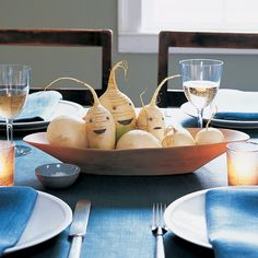 Halloween Decor: Root Vegetable Centerpieces