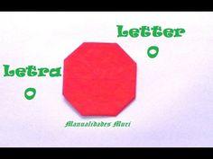 Origami - Papiroflexia. Abecedario muy fácil. Letra O