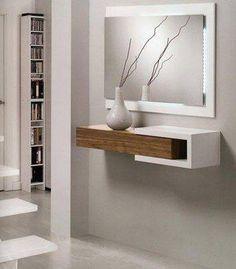 Socles mur avec miroir