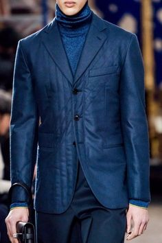 Men's lux blue turtleneck