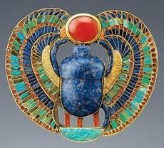 scarab pectoral from King Tut