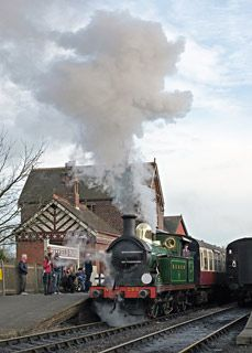 H-class leaving Sheffield Park with the Rambler - Brian Lacey - 4 March 2017