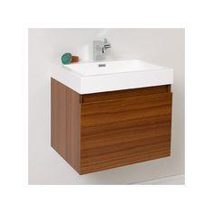 "Fresca Senza 24"" Nano Modern Bathroom Vanity Set with Single Sink & Reviews | Wayfair"