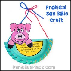Pig in a Basket Prodigal Son Bible Craft for Children's Church