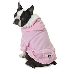 Bentley's Fur Trimmed Pink Dog Hoodie - Large
