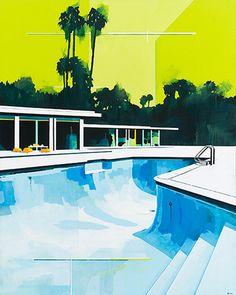 Architectural-landscape paints by Paul Davies
