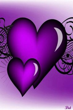 PURPLE HEARTS, IPHONE WALLPAPER BACKGROUND