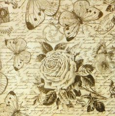Ricepaper/Decoupage paper,Scrapbooking Sheets Rose and Butterfly