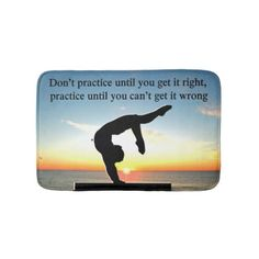 INSPIRING GYMNAST QUOTE BATHROOM MAT