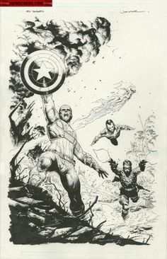 Captain America and Invaders by Jerome Opena
