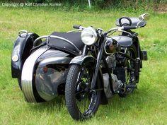 AWO 425 mit Beiwagen - fotografiert am 31.05.2009 zur Oldtimer-Show in Paaren Glien/ Land Brandenburg - Copyright @ Ralf Christian Kunkel