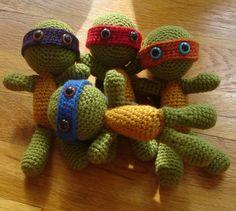 tmnt crochet dolls!!!