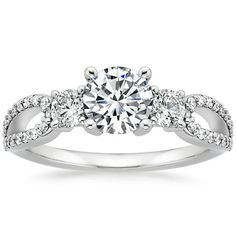 18K White Gold Lumiere Three Stone Ring (1/2 ct. tw.) from Brilliant Earth.... LOVE THIS!!! If Andrew proposes again I want this one.