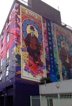 This is where I'm staying for New Year ✈️Art Nouveau James Joyce Ulysses Mural, Blooms Hotel, Temple Bar - Dublin, Ireland Urban Graffiti, Graffiti Murals, Mural Art, Street Art Graffiti, James Joyce, Art Nouveau, Dublin Street, New Year Art, World Street