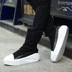 d69cb9ee252f Men s Platform Casual Punk Ankle Boots Fashion Sneakers Party High Top Shoes