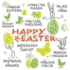 Happy Easter multilingual