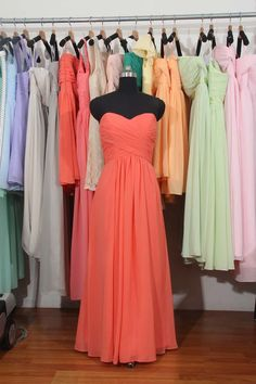 Hey, I found this really awesome Etsy listing at https://www.etsy.com/listing/163559809/cheap-sweetheart-long-chiffon-bridesmaid