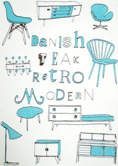 danish teak retro modern etsy turquoise