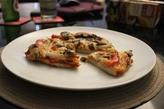 Gluten Free Pizza || Mushrooms, onion, red bell pepper, cheese and tomato sauce