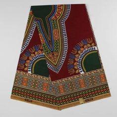 HF027 12 yards only Premium Ankara Print DASHIKI Fabric