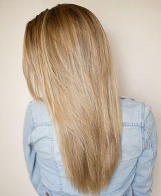 long straight layered hair
