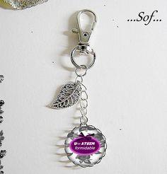 Bijou de sac ou porte-clés avec son cabochon ATSEM (250616) : Autres bijoux par la-boutique-de-sof