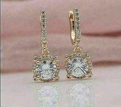Round Cut Diamond, Colored Diamonds, Dangle Earrings, Dangles, Rose Gold, Drop, Stone, Detail, Ebay