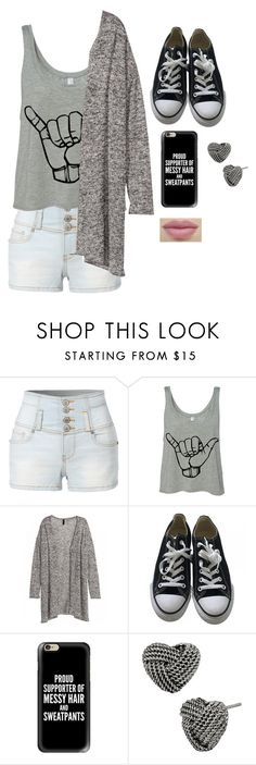 """""""Untitled #3043"""" by if-i-were-famous1 ❤ liked on Polyvore featuring LE3NO, Converse, Casetify and Betsey Johnson"""