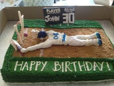 30th b'day cake for a cricket lover!