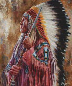 "native american art | Undaunted Leader, Lakota, Native American art, James Ayers"" by ..."