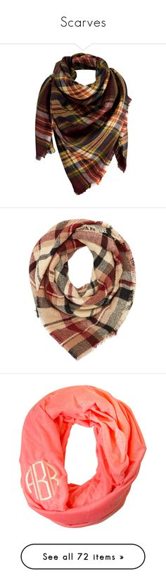 """""""Scarves"""" by ctrygrl1999 ❤ liked on Polyvore featuring accessories, scarves, tartan plaid scarves, tartan plaid shawl, shawl scarves, plaid scarves, fringe scarves, red, oversized blanket scarf and plaid blanket scarf"""