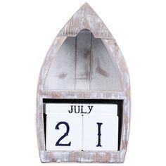 DEI Latitude 38 Wood Boat Perpetual Calendar