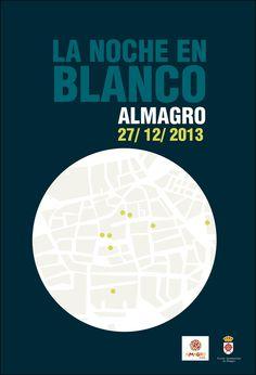 """Cartel """"La noche en blanco"""" Almagro 2013"""