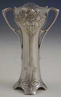 Two WMF Art Nouveau Floral Vases