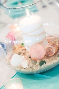 Beautiful beach theme centerpiece
