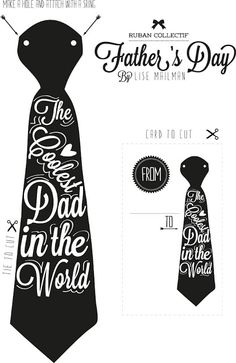 father's day diy card and tie