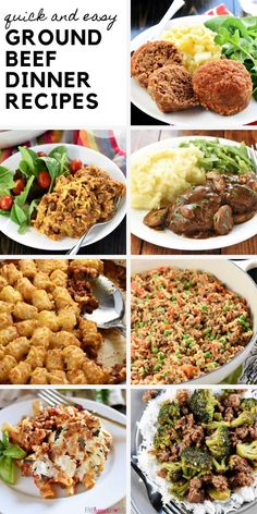 If you're looking for some delicious, quick, and easy dinner ideas for the whole family, search no more! These Ground Beef Dinner Recipes are perfect for busy weeknights. From classic meatloaf to flavorful pasta skillet dishes, you have plenty to choose from! Save this pin!