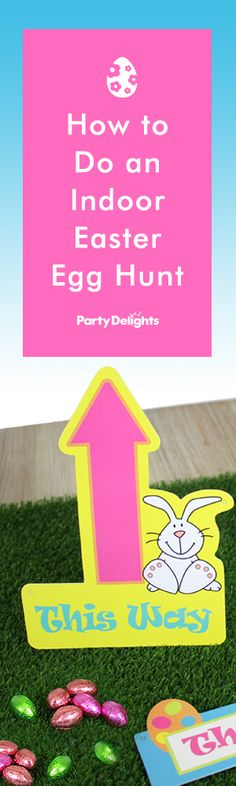 An Easter egg hunt is one of our favourites Easter activities for kids! Visit the Party Delights blog to find out how to do an indoor Easter egg hunt and download our free printable indoor Easter egg hunt clues.