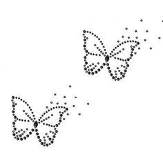 Vlinders hotfix patroon