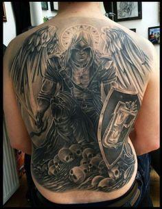 Assassin tattoo nice textures #Tattoos #backtattoo
